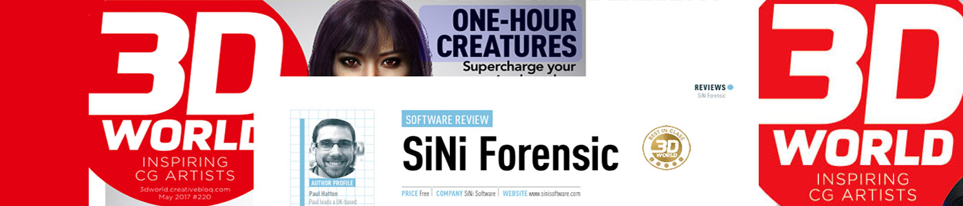 3d world magazine cover image for the review of SiNi Software's review of Forensic for 3ds max plugins